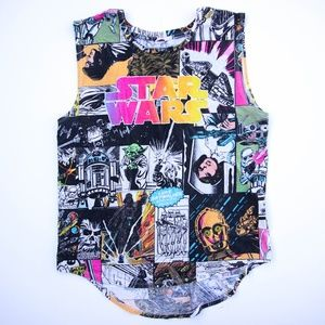 c4a1ae82105251 Rare Star Wars Comic All Over Ladies Tank Top